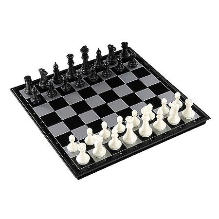 Liuxiaomiao Ajedrez Juego de ajedrez de plástico con Tablero de ...