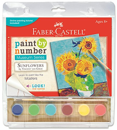 Creativity for Kids Faber-Castell Paint by Number Museum Series - Paint Your Own Sunflowers by Vincent Van Gogh