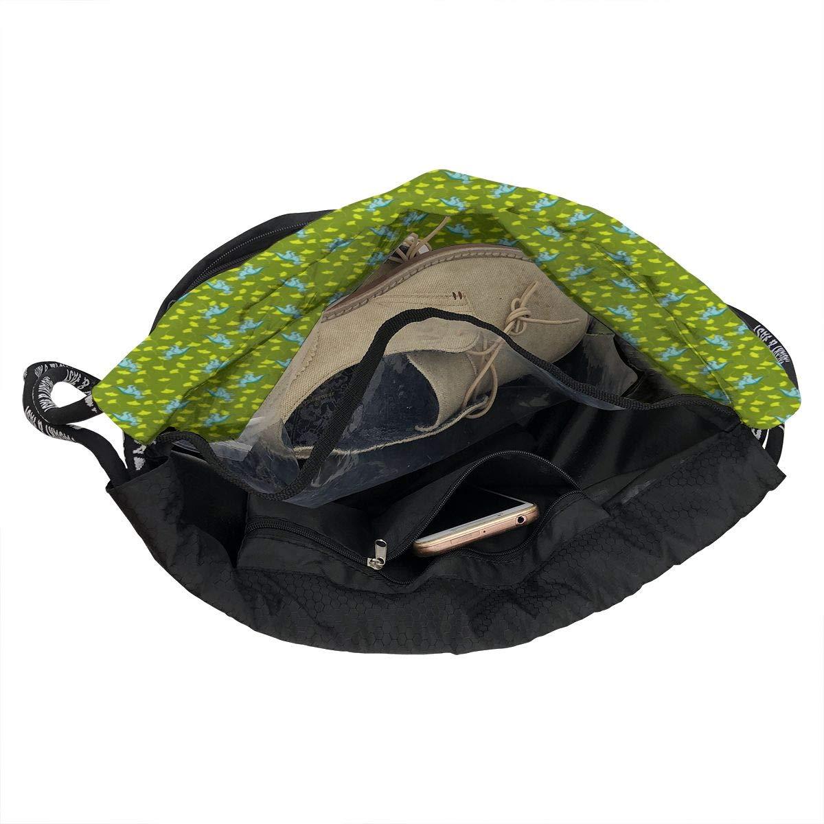 Luedino2012 Drawstring Backpack Sports Athletic Gym Cinch Sack String Storage Bags for Hiking Travel Beach