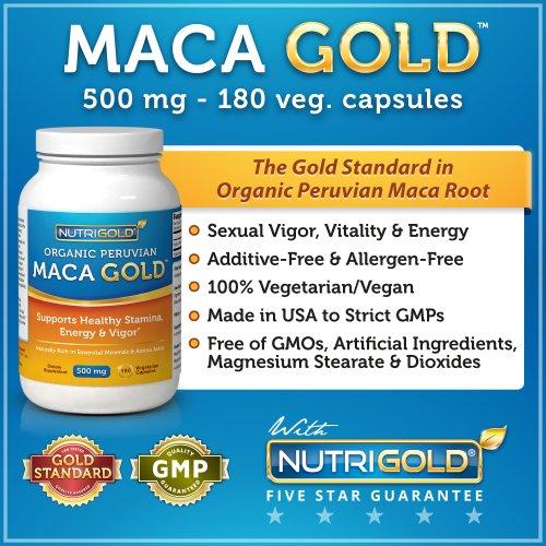 Maca GOLD - 500 mg (180 capsules végétariennes)