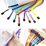 JPSOR 16pcs Mesh Zipper Pouch, 8 Sizes and 8 Colors Zipper File Bags, Document Pouch for Office Supplies and Travel Organization