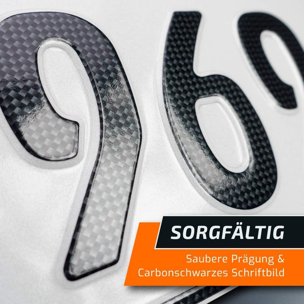 OFFIZIELL amtliche Nummernschilder schildEVO 2 Carbon Kfz Kennzeichen Autokennzeichen 320x110 mm EU Wunschkennzeichen mit individueller Pr/ägung DIN-Zertifiziert