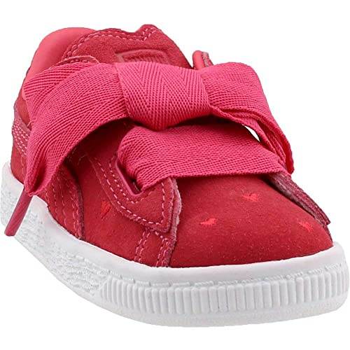738ec16625b PUMA Kids Baby Girl s Suede Heart Valentine (Toddler) Paradise Pink Paradise  Pink 5