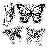 Inkadinkado Butterflies Cling Stamp