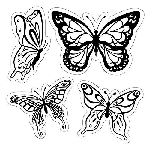 Inkadinkado Butterflies Cling Stamp EKS 60-60004