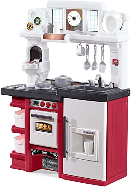 Amazon Com Step2 Coffee Time Kitchen Kids Playset Red Toys Games