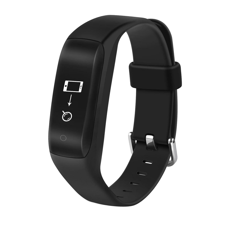Fitness Watch Fitness Trackerスマートブレスレット心拍監視追跡ワイヤレス歩数計カロリーカウンタースポーツバンド睡眠監視Android IOS電話   B0778GQ9WG