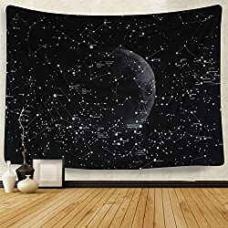 "Mandala Tapestry Wall Tapestry Bohemian Wall Hanging Tapestries Wall Blanket Wall Art Wall Decor Beach Tapestry Sunset Tapestry Indian Wall Decor (51.2"" x 59.1"", Moon Constellations)"