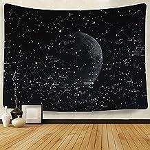 "Mandala Tapestry Wall Tapestry Bohemian Wall Hanging Tapestries Wall Blanket Wall Art Wall Decor Beach Tapestry Sunset Tapestry Indian Wall Decor (51.2"" x 59.1"", Moon Constellations)"