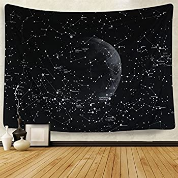 Moon Constellations Tapestry Wall Tapestry Bohemian Wall Hanging Tapestries Wall Blanket Wall Art Wall Decor Beach Tapestry Sunset Tapestry(59.1