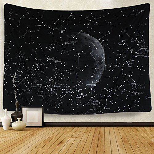 (Martine Mall Moon Constellations Tapestry Wall Tapestry Bohemian Wall Hanging Tapestries Wall Blanket Wall Art Wall Decor Beach Tapestry Sunset Tapestry (82.7