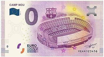 España 2018 - Camp NOU - 0 Euro Souvenir Billete: Amazon.es: Juguetes y juegos