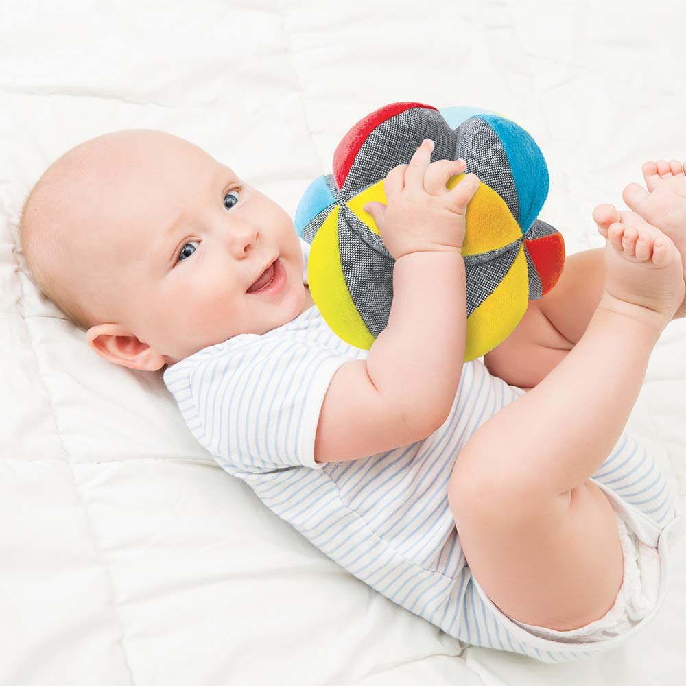 From 6 Months Old Throw and Catch the Ball Made of Soft Washable Fabric Ludi Gripping Ball I learn to Roll