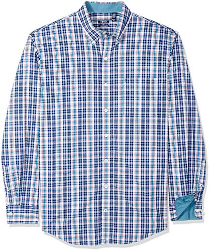 IZOD Men's Premium Performance Natural Stretch Plaid Long