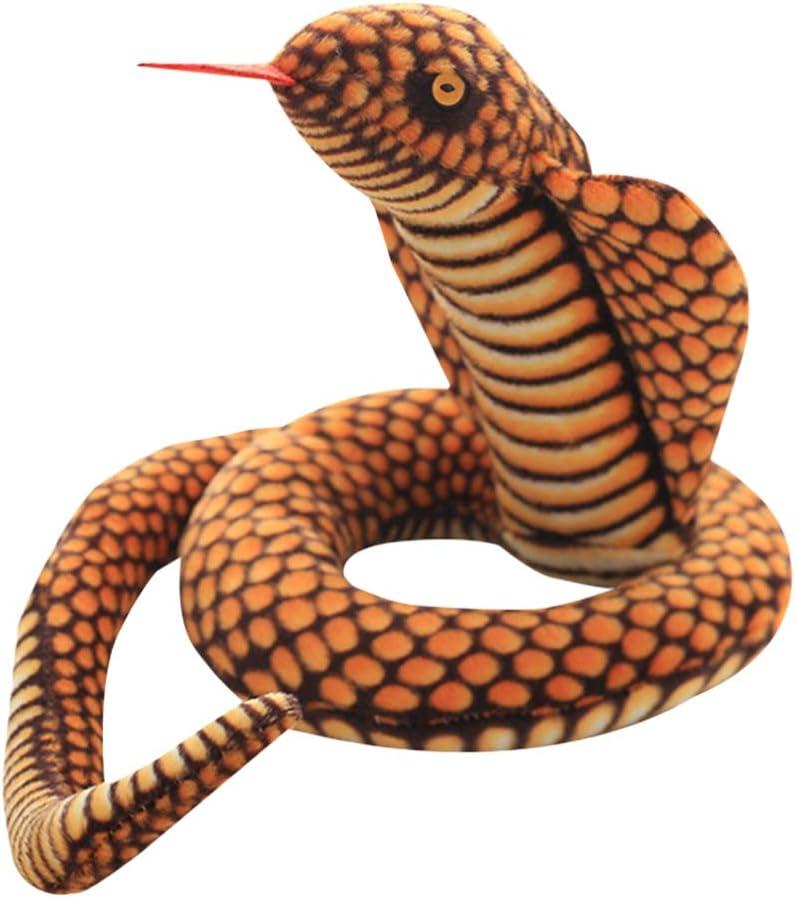 Tomaibaby Serpiente Falsa Realista Serpientes De Goma Serpiente Animal de Peluche Juguete de Peluche Broma de Halloween Juguete 110Cm
