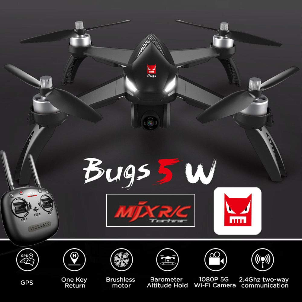 Generic MJX Bugs B5W Drone 2.4GHz 60km h 5G FPV Brushless Motor 1080P Camera GPS Headless Mode WiFi Realtime Tramission RC Helicopter