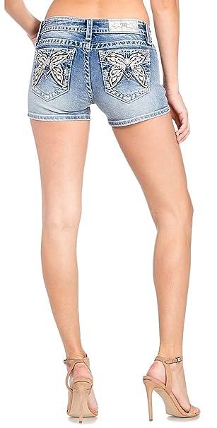 Amazon.com: Miss Me M3377H - Pantalones vaqueros de lavado ...
