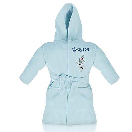 Disney Frozen Olaf personalizado y Applique Super suave polar bata/albornoz (azul) azul