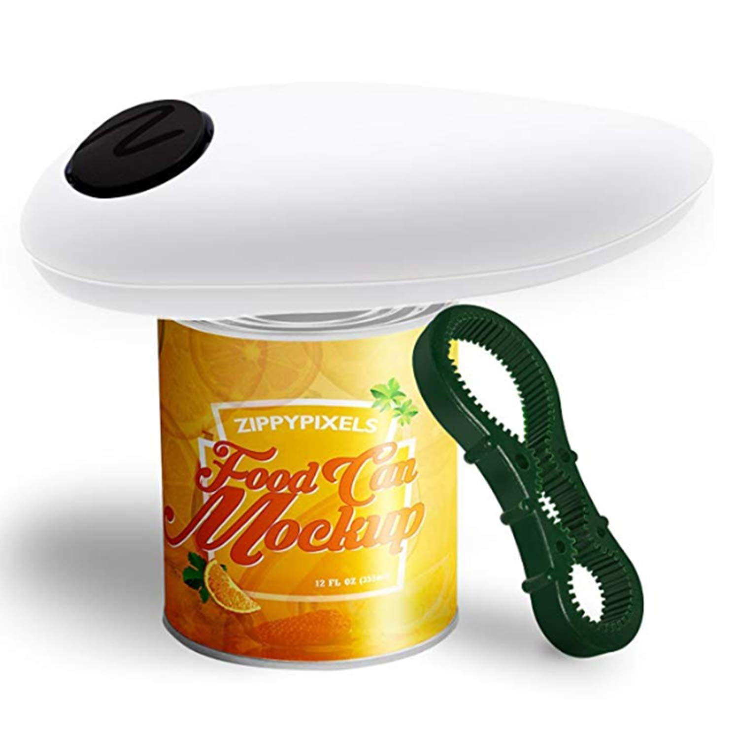 NATUCE Electric Can Opener, White Smooth Edge Automatic Tin Opener Tools Restaurant Can Openers Gadgets