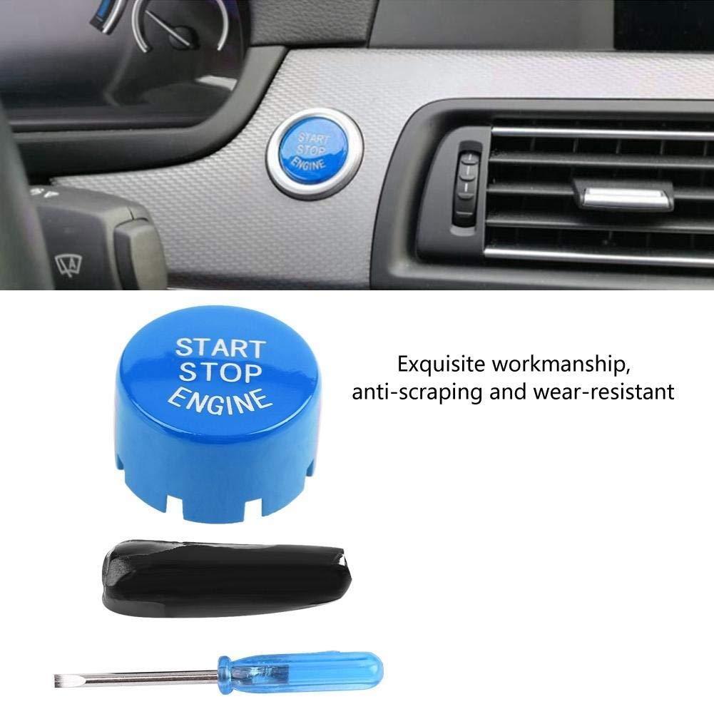 3 Colori Colore : Blu Aeloa Coperchio Pulsante di Arresto Avvio Motore Auto Avviamento a Pulsante Singolo Compatibile con BMW F30 G//F Disco Inferiore con Start /& Stop
