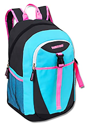 b8b6e0bf2ca4 School Backpack with Padded Straps (Blue Black Pink)