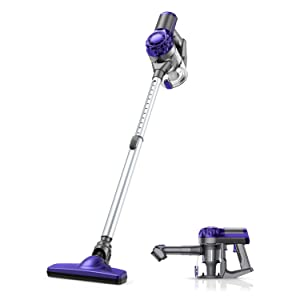 APOSEN Cordless Vacuum Cleaner, 18KPA Strong Suction 4 in 1 Lightweight Detachable Battery Stick Vacuum Cleaner