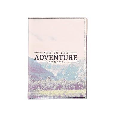 """And So The Adventure Begins"" Passport Holder"