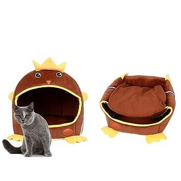 Cama para perro cálida de invierno cama para gato impermeable lindo mascota cama cueva gato colchón para dormir jugar descansar por Hongyh: Amazon.es: ...