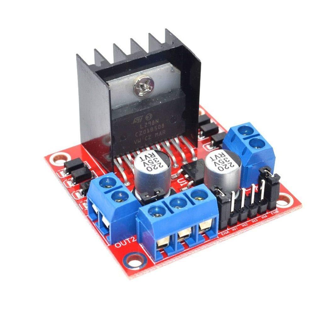 Uzinb Stepper Motor Drive Controller Board Module L298N Dual H Bridge DC Replacement for Arduino