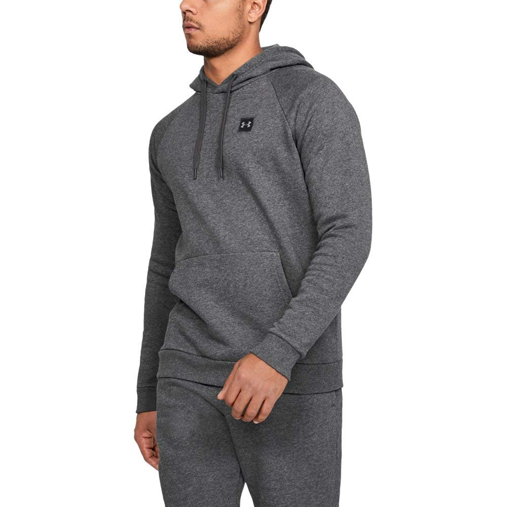 Under Armour Men's Rival Fleece Hoodie, Charcoal Light Heath (020)/Black, 3X-Large by Under Armour (Image #1)