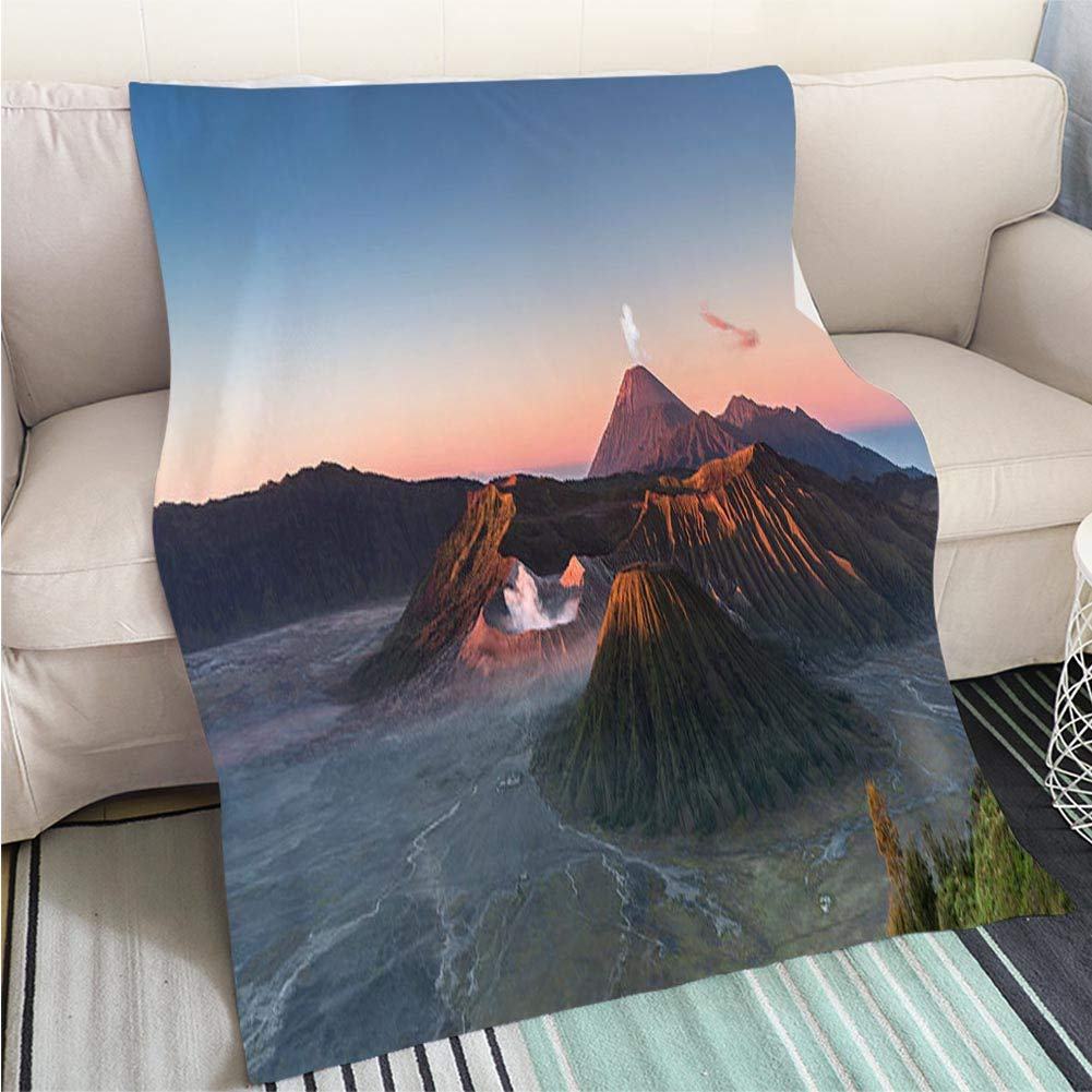 color9 47 x 80in Luxury Super Soft Blanket Sunrise at Riva Del Garda Perfect for Couch Sofa or Bed Cool Quilt