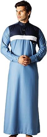 Mens Muslim Clothing Embroidery Kaftan Caftan Saudi Arab Thobe Islamic Jubba Top