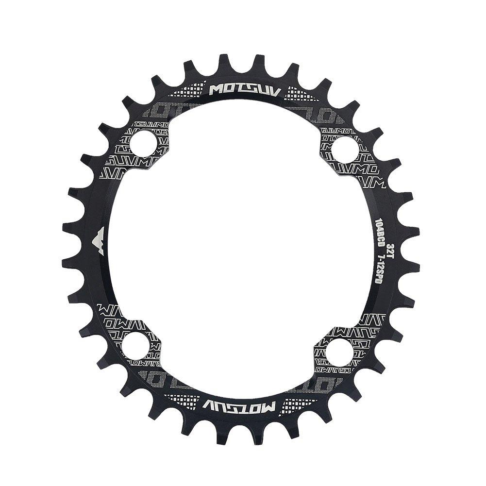 Plato de Bicicleta, Platos Ovales de Una Sola Velocidad 32T / 34T / 38T para Bicicleta BCD 104mm(32T) VGEBY