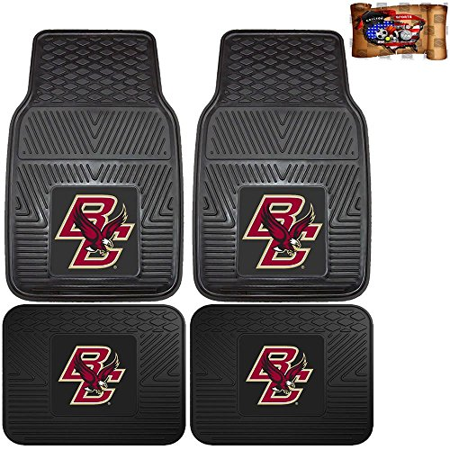 Licensed NCAA Boston College Eagles Vinyl Floor Mats Universal ()