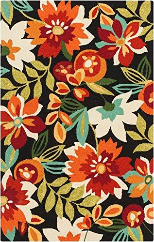 Surya Indoor/Outdoor Rectangle Area Rug 9'x12' Black-Cherry Rain Collection - 12' Black Cherry