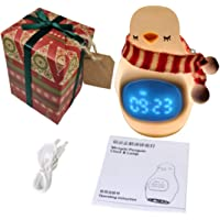 Night Light For Kids - Portable Safe Rechargeable Baby Lamp Room Décor with Alarm Clock - Worshopping Gift Wrapped Kids…