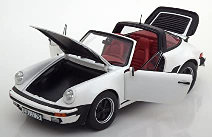 Norev 187660 1987 Porsche 911 3.3 L Turbo Targa White 1/18 Diecast Model Car
