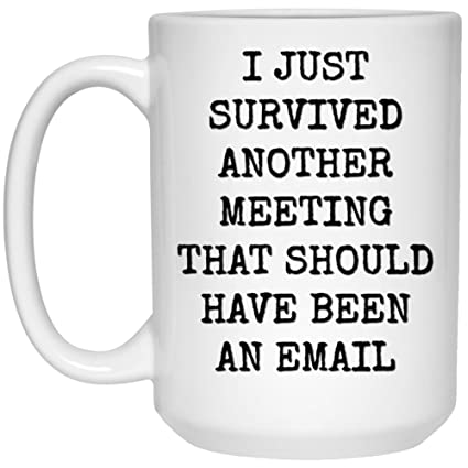Amazon.com: Funny Quote Coffee Mug | I Just Survived Another ... #tooMuchCoffee