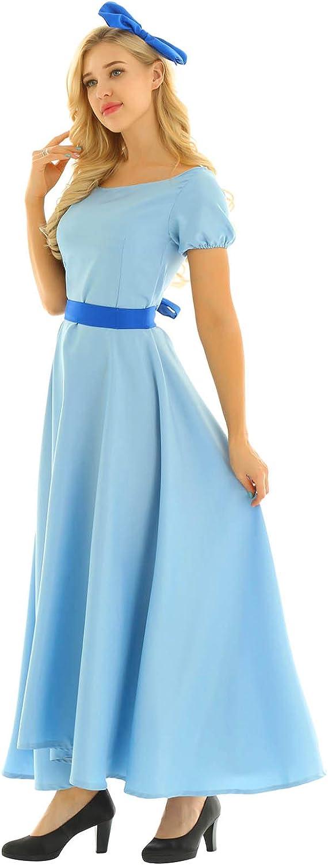 CHICTRY Disfraz de Princesa de Wendy, Disfraz de Halloween para ...
