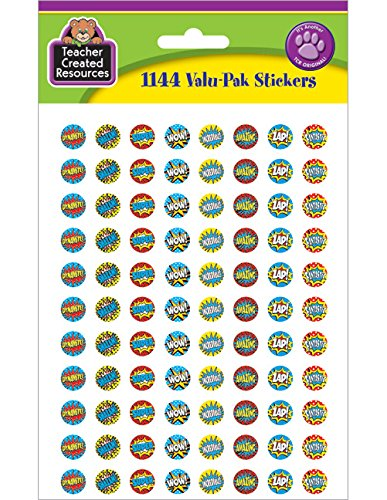 Teacher Created Resources Superhero Mini Stickers Valu-Pak (5643) -