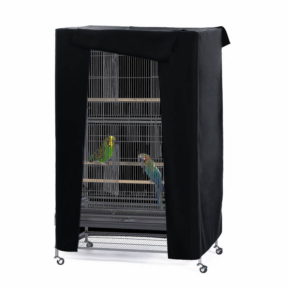 PONY DANCE Pets Product Universial Birdcage Cover Blackout & Breathable Material Small Grey PONYDANCE bird cage covers