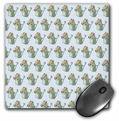 PS Vintage - Rabbit in a Watering Can- Cute Animals- Bunnies - MousePad (mp_79397_1)