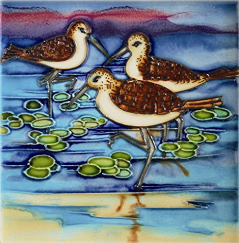 Decorative Art Tile - Water Duck - Decorative Ceramic Art Tile - 6