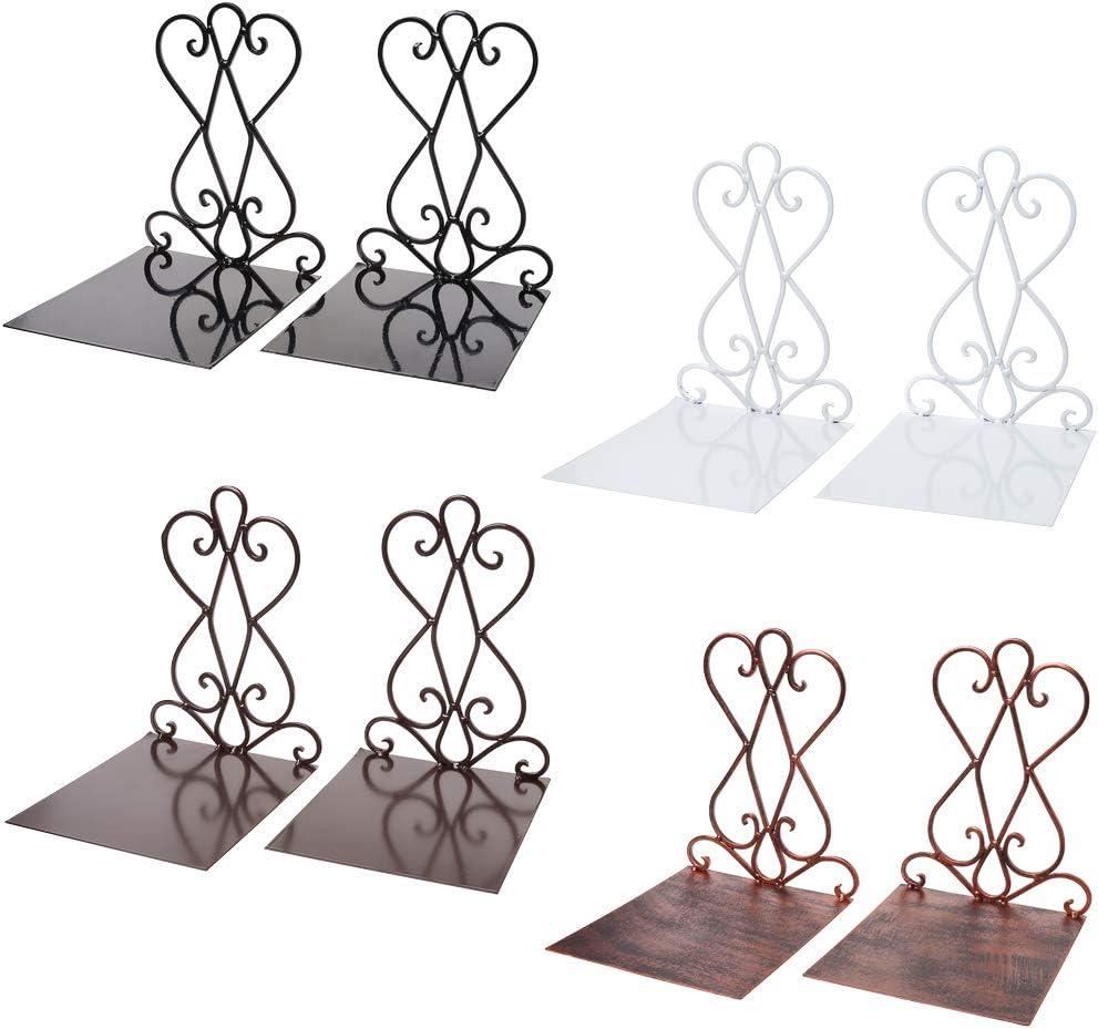 in Metallo Stile Vintage Accessori da Ufficio 01 a Forma di L per cancelleria Scolastica Fermalibri Creativo a Forma di Fiore MYA