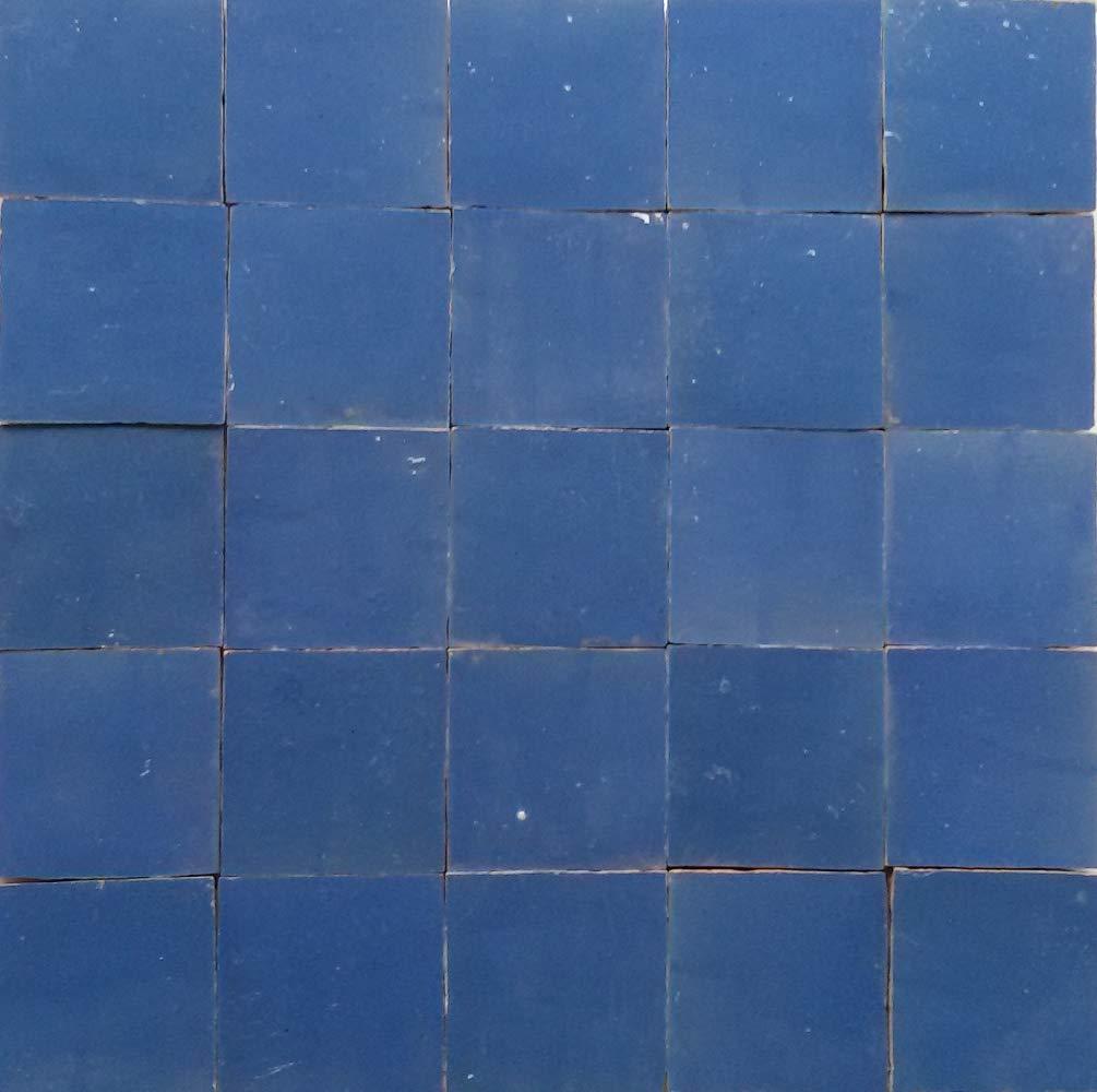 Zellige brillant blau Wandfliesen Mosaikfliesen 20Stk