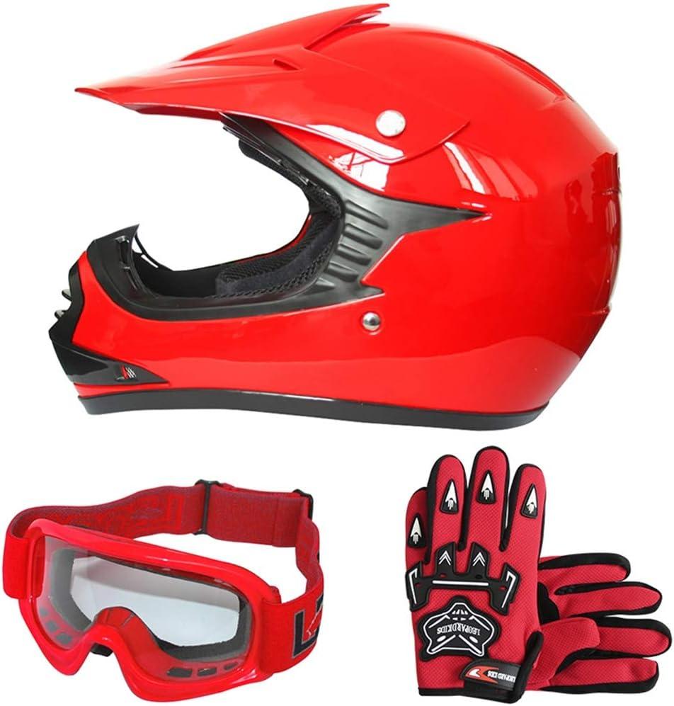 S X16- Vert 49-50cm Leopard LEO-X16 Casque de Moto Casques Motocross /& Gants de Moto /& Lunettes de Moto Enfant Bicyclette ATV MX VTT Junior Sports ECE 22-05 Approbation