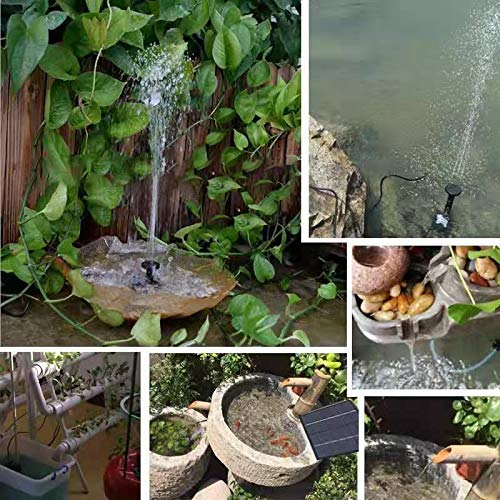 bestc 1.8W Solar Fountain Water Pump for Bird Bath Solar Powered Fountains Outdoor Garden Pond Pump for Fish Tank Small Pond Pool Garden and Lawn