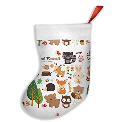 FQWEDY Cute Woodland Animal Fashion Unique Christmas Stockings Personalized  Gift Socks Christmas Socks For Parties