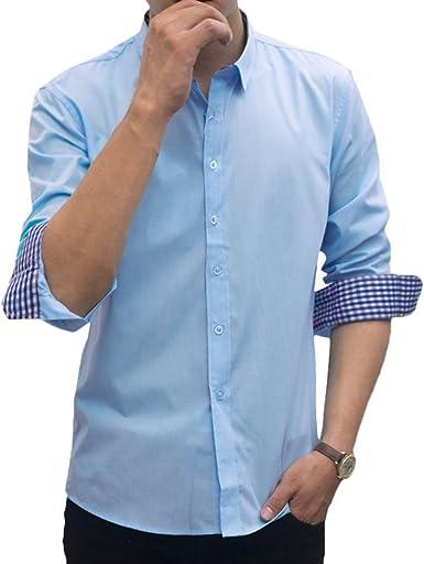 Scothen Hombre Camiseta Slim Fit Largo Ocio Tela Escocesa Moderna no Hierro Planchado fácil Negocios Ocio Elegantes Camisas del Mens Ocasionales Camisa Superior Hermoso Recogida de Las Camisas: Amazon.es: Ropa y accesorios