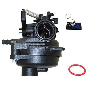 STONEDER Carburador con Juntas para Briggs & Stratton 799584 cortacésped de carburo de Motor